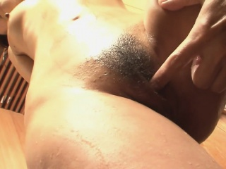 Big ass and oiled up brunette, Yuki Asami teasing in the