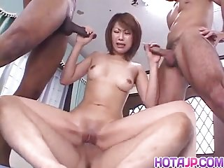 Aya Sakurai, Asian wife, pleases hubby in POV scenes