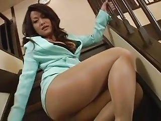 Sexy Jav Mature Pantyhose Show