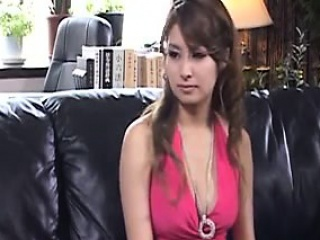 Delightful Oriental babe with perfect big boobs is a sucker