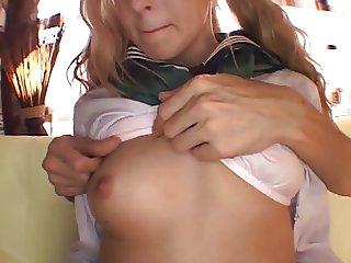Abigaile in Japan Schoolgirl Uniform
