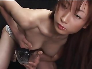 Sexy Japanese girl with tits full of milk