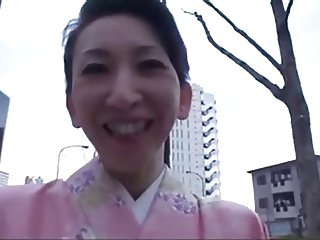 50yr old Michiko Uchimura gets 2 creampies