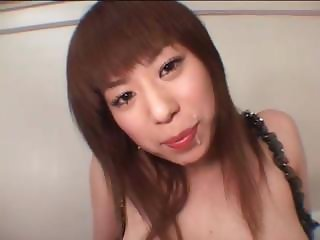 Busty japanese gets facialized