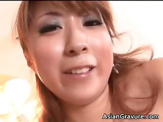 Sexy and cute asian brunette gives part1