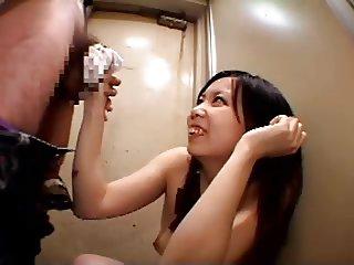 wanking with her nylon panties