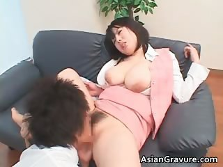 Nasty and busty asian babe gets tit part4