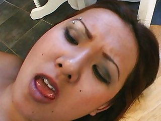 Horny Japanese girl sucking hard cocks