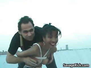 Asian slut Akira gets her beautiful tits part2