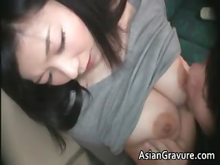 Cute brunette asian babe with great part4