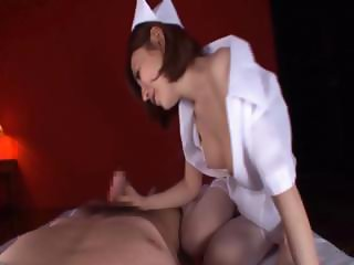 Hand and blowjob with asian hoe