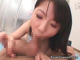 Great looking oriental chick sucks boner part6