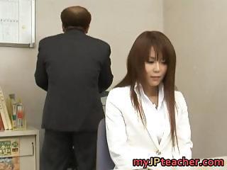 Megu Ayase Lovely Asian teacher part1