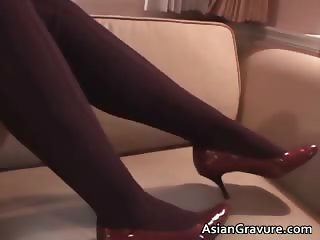 Incredible sexy real asian model sipping part4