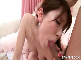 Superb asian beauty gets pussy fucked doggie