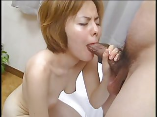 Young hairy bush asian chick loves to ride big hard white dick and gets a facial