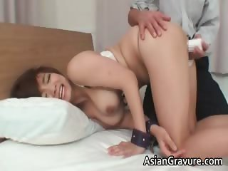Sexy asian brunette Meguru with big tits part2
