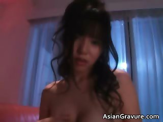 Busty asian hottie in sexy pink lingerie part4