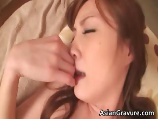 Horny asian hoe sucks hard cock in the part1