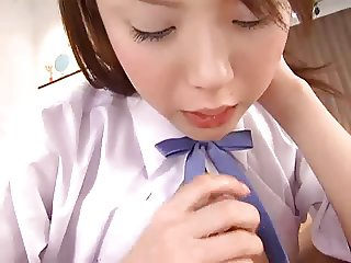 Pretty Japanese Girl Blowjob