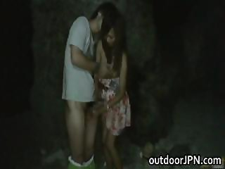 Akina Lovely Asian doll enjoys outdoor part6