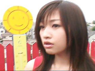 Japanese cfnm innocent announcer bukkake