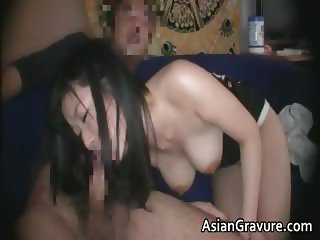Cute brunette asian babe with great part6