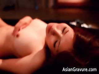 Awesome asian brunette hoe is sucking part5