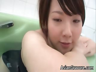 Cute japanese babe taking a bath in sexy part6