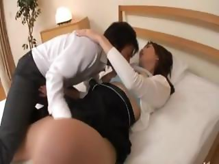 lovely anal gangbang from Japan