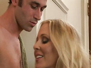 Blonde whore loves riding cock