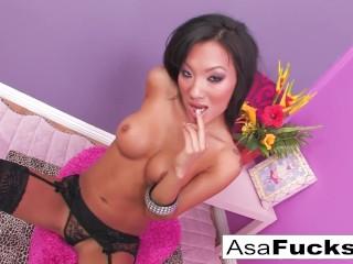 Asa Akira Sexy Stocking Solo