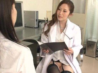 Japanese doctor gloved examination 1