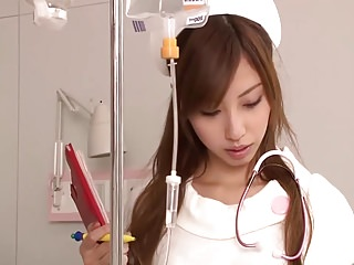 japanese Young Nurse masturbating