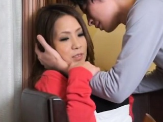Oriental mature spreads wide to get licked and screwed hard