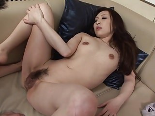Gorgeous brunette gets her nipples teased before fucking