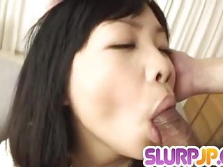 Special blowjob spectacle along brunette Hikaru Momose