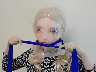 KIGURUMI Self Bondage  breath paly