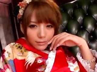 Tina Yuzuki Rio Kimono Tease and Blowjob