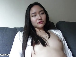 Sexy Japanese gf fucked in silk gown