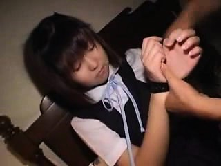 Beautiful Japanese teen with tiny boobs is craving for some