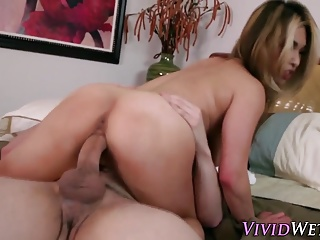 Busty asian gets spunked